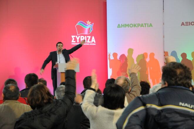 Alexis Tsipras, en meeting à Patras