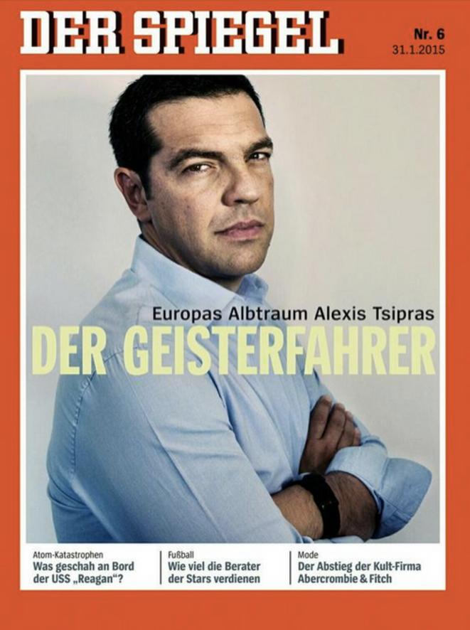 """""""Celui qui va à contre-courant"""" titre le Spiegel, sous une photo de Stipras"""
