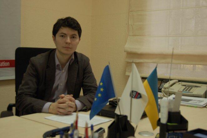Vilor Osmanov, à la Chambre de commerce internationale de Crimée © Amélie Poinssot