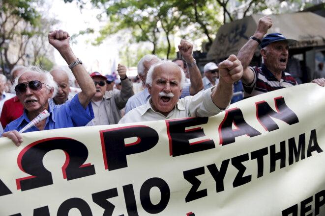 Manifestation de retraités à Athènes, le 20 mai 2015.