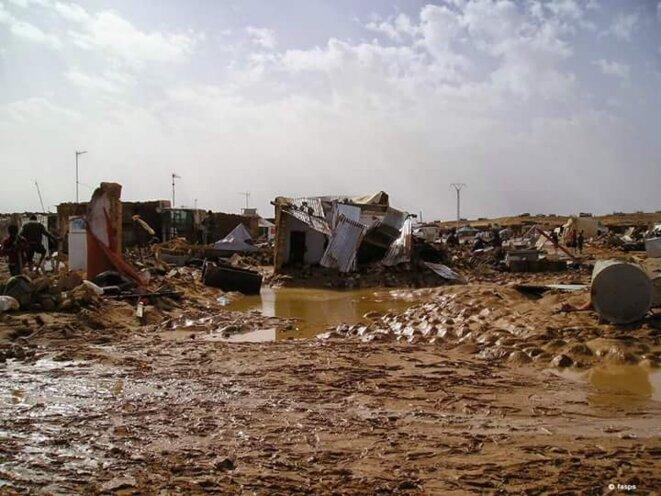 inondation dans les camps de réfugiés