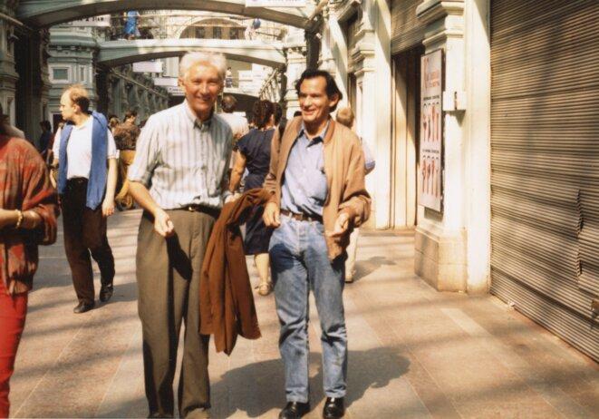 Gilbert et Maurice, Moscou, 1991.