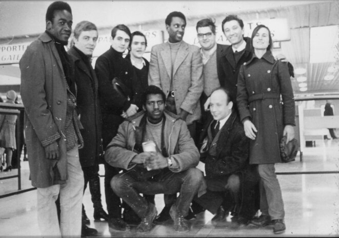 Mon père, ma mère, en compagnie de Stokely Carmichaël et de militants, avec Maurice Najman.