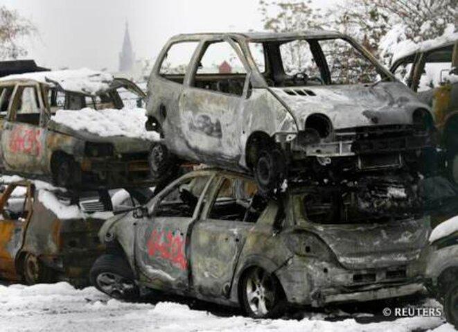 1er janvier 2011, banlieue de Strasbourg. © REUTERS/Jean-Marc Loos.