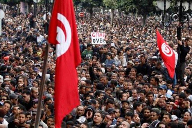 Le 14 janvier 2011 à Tunis. © Zohra Bensemra (Reuters).