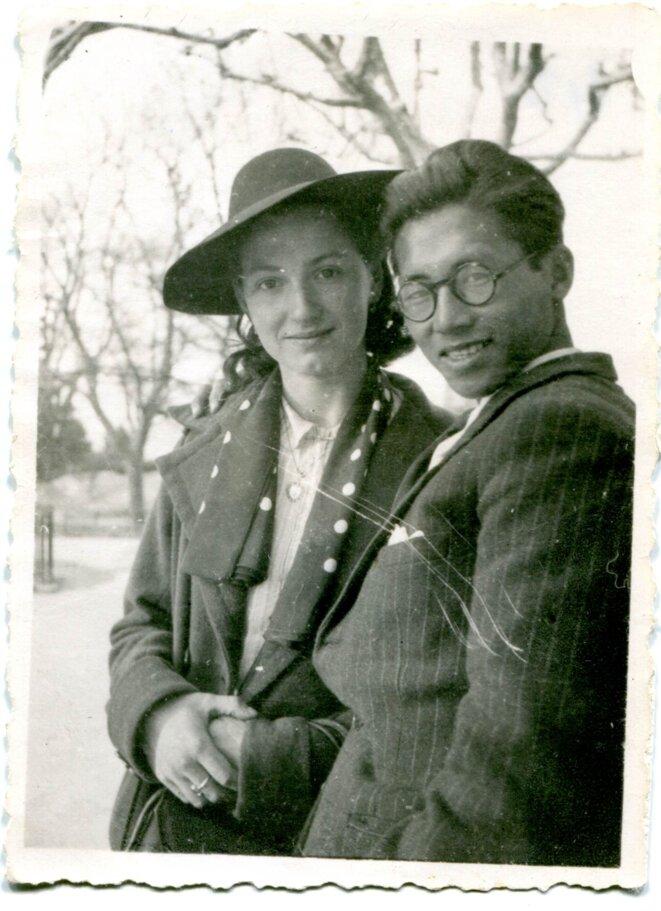 Thanh et sa future femme Juliette à Lattes, en 1943. © Nguyen Van Thanh