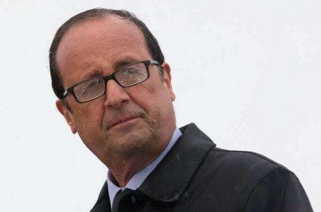 François Hollande sur l'île de Sein, le 25 août 2014. © Philippe Wojazer/Reuters
