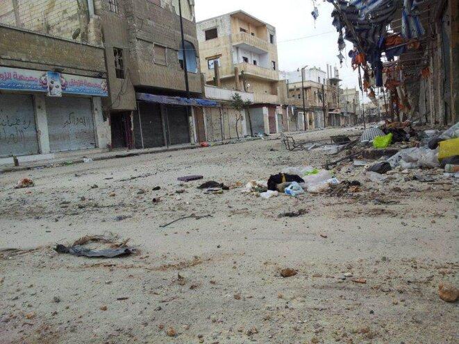 Homs, quartier de Karm Al-Zeitun, 2012.