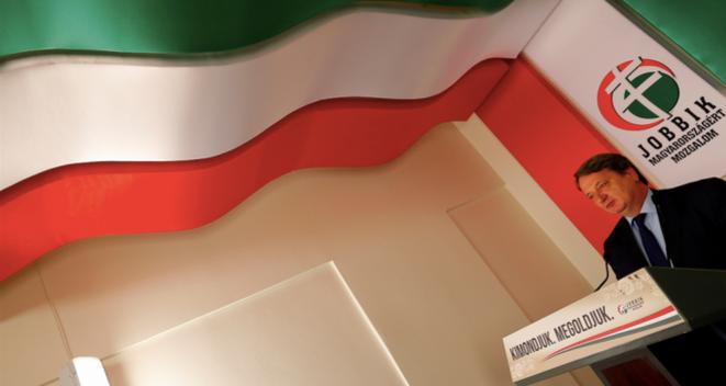 Bela Kovacs, député européen du parti hongrois Jobbik, le 15 mai à Budapest. © REUTERS/Laszlo Balogh