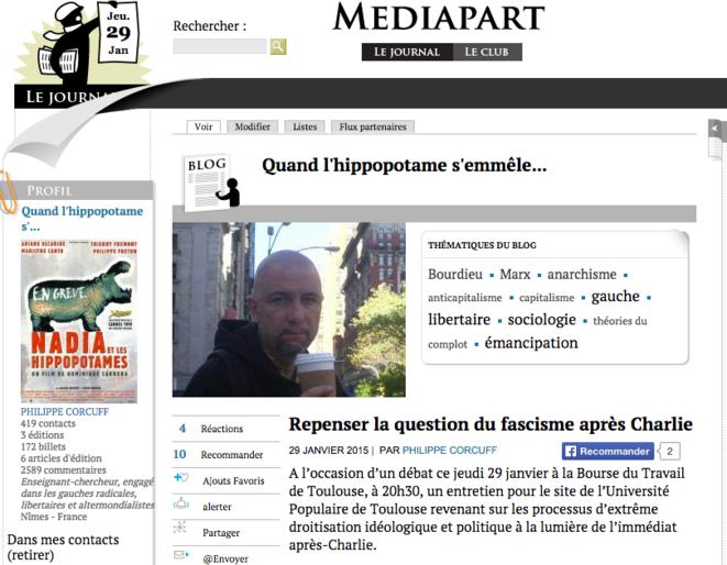 Le blog actuel de Philippe Corcuff.