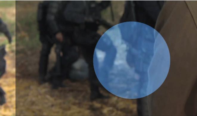 Image de la vidéo amateur des affrontements. © Mediapart
