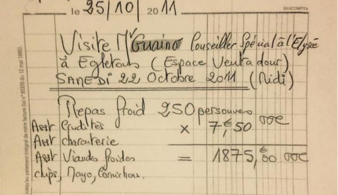 Une facture d'Henri Guaino.