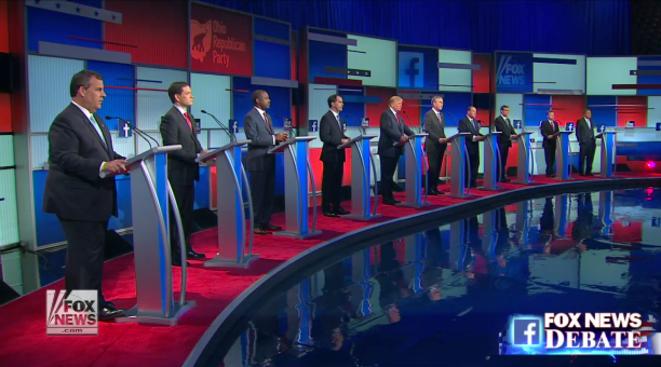 Les dix candidats les mieux placés dans les sondages. © Fox News