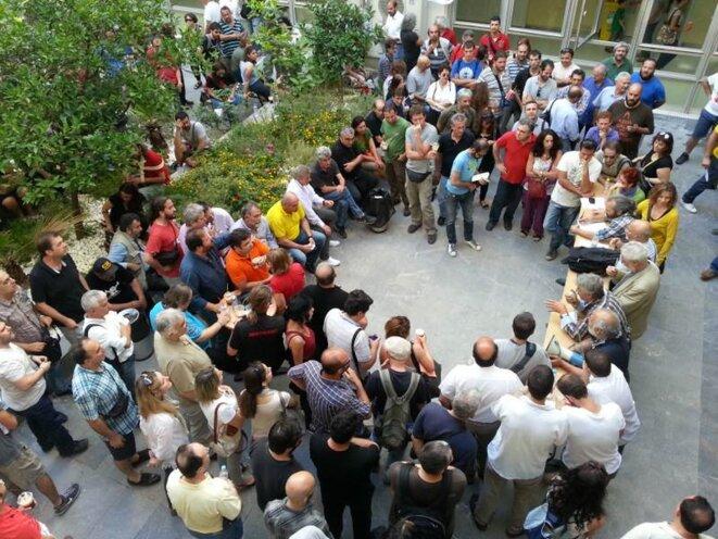 Réunion des syndicats, samedi 15 juin.