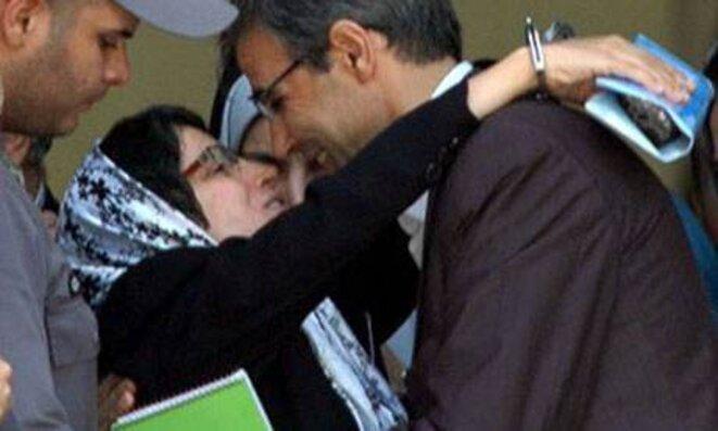 Nasrine Sotoudeh lors de son procès en 2010. © DR