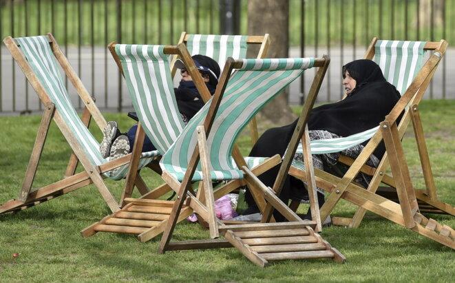 Hyde Park, Londres, début avril.  © Reuters
