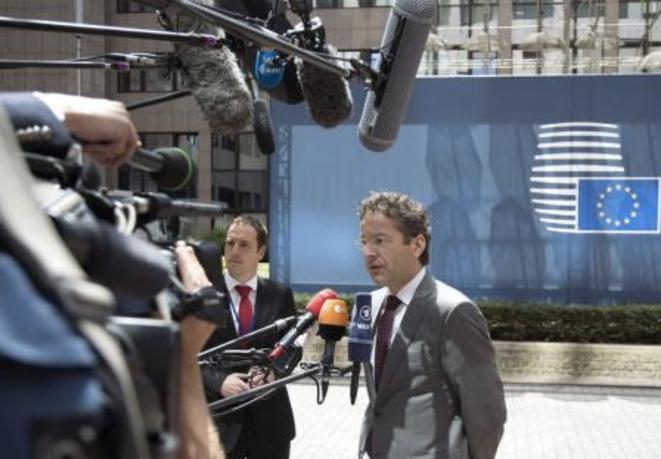 Jeroen Dijsselbloem, président de l'Eurogroupe, samedi 27 juin à Bruxelles. © Reuters
