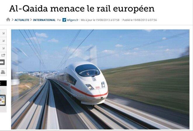 Une du Figaro.fr le 19 août 2013.