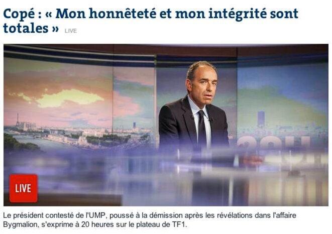 Copé déconfit Le monde.fr 27 mai 2014