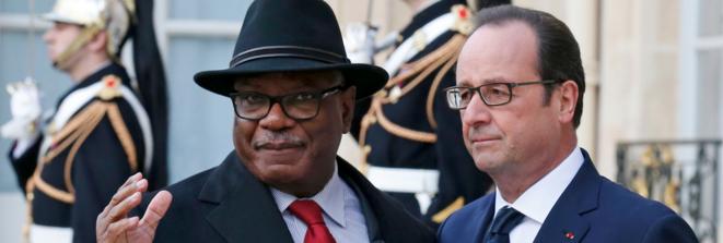 François Hollande et Ibrahim Boubacar Keïta. © Reuters