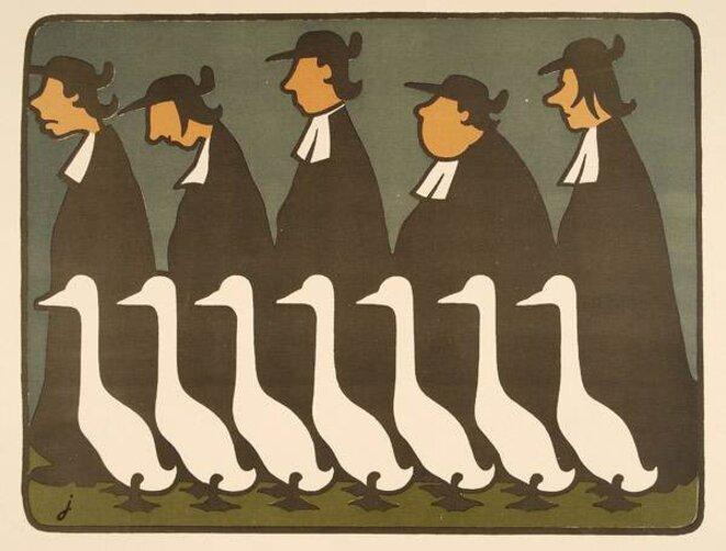 """crédits : Jossot/extrait de """"Jossot, caricatures, de la révolte à la fuite en orient, de Michel Dixmier et Henri Viltard, Paris"""