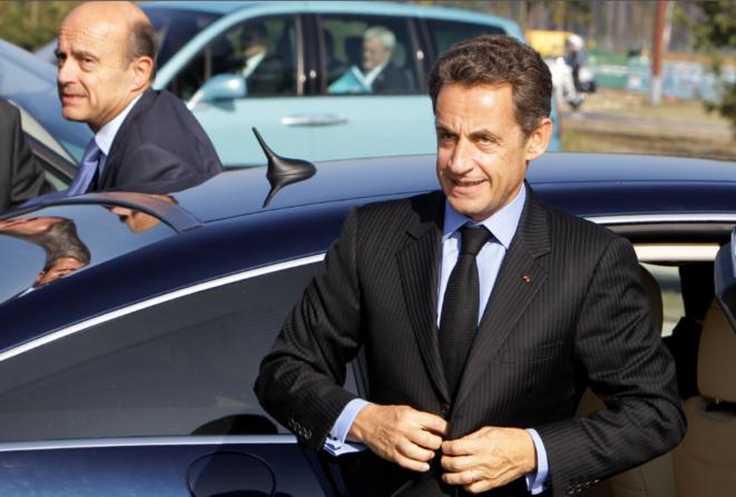 Juppé et Sarkozy, le 14 octobre en Aquitaine.  © Reuters