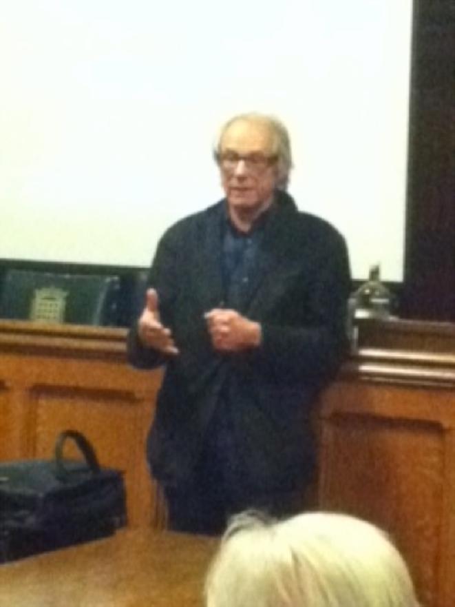 Ken Loach à la Chambre des Communes, le 26 février 2013.