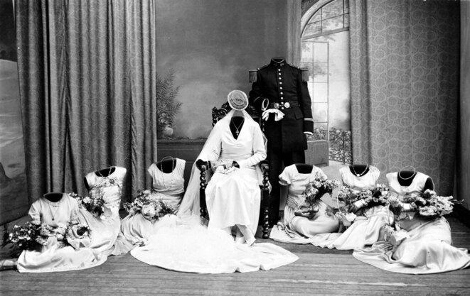 «La mariée », impression numérique, 400 x 600 cm. 2014 ©  Erwan Venn