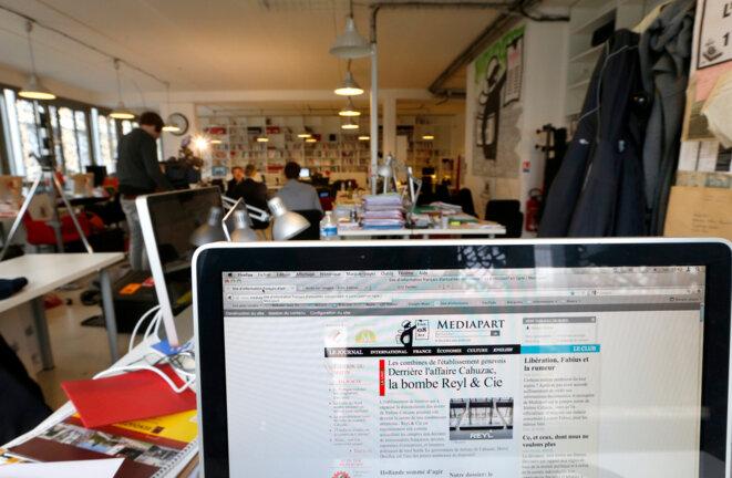 La rédaction de Mediapart en 2013. © Reuters