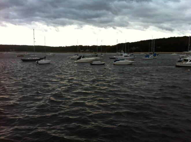 La baie de North Port, dimanche en fin de journée. © G. Dx