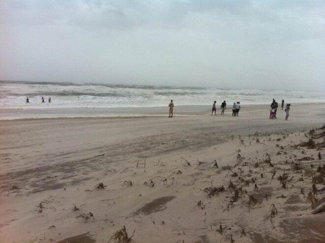 Sur la plage de Gilgo Beach. © G. Dx