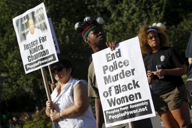 Manifestation à New York, mercredi 22 juillet.