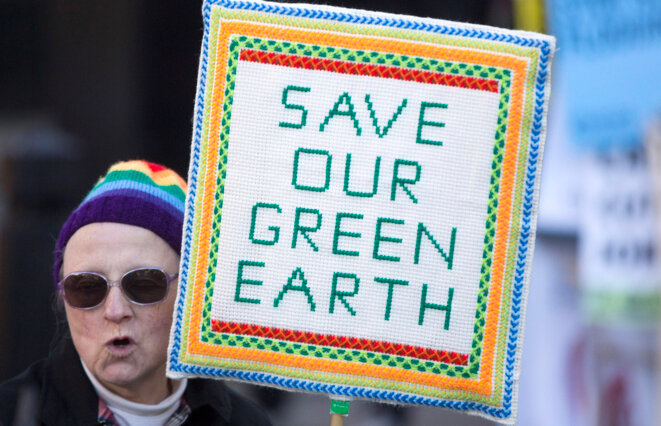 Dans une manifestation, le 7 mars 2015 à Londres (Royaume-Uni).