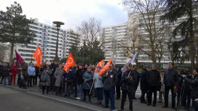 Manifestation sur le lieu de l'ex-Tripode le 27 février 2014
