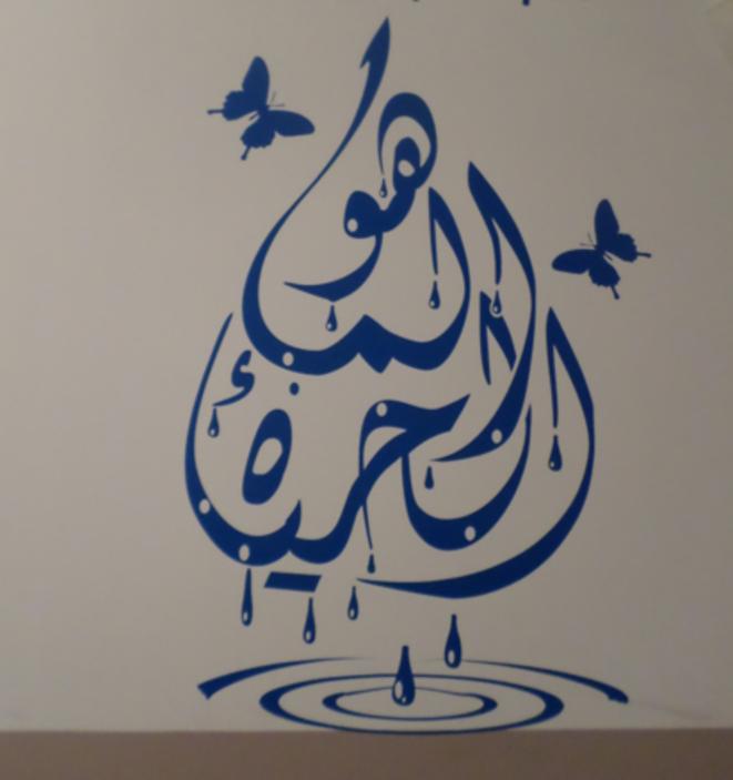 """Fresque """"l'eau est la vie"""" sur les murs du lycée Averroès"""