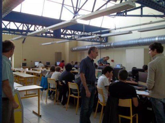 Une classe de lycée technologique à Marseille