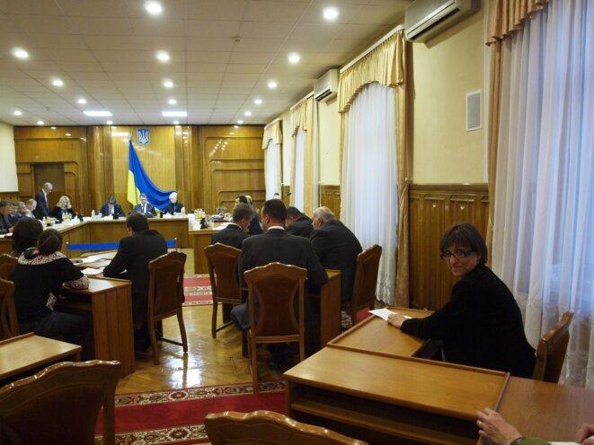 A la commission électorale centrale © Anne Rio
