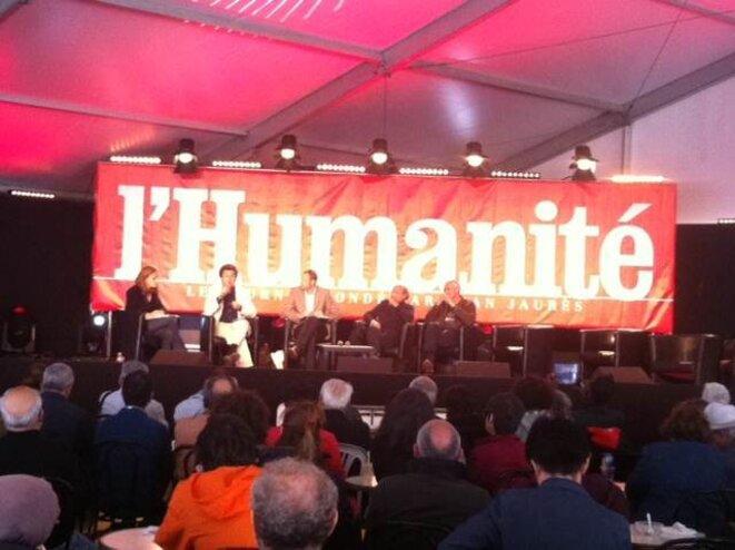 Débat, Fête de l'Humanité, 15 septembre 2013.