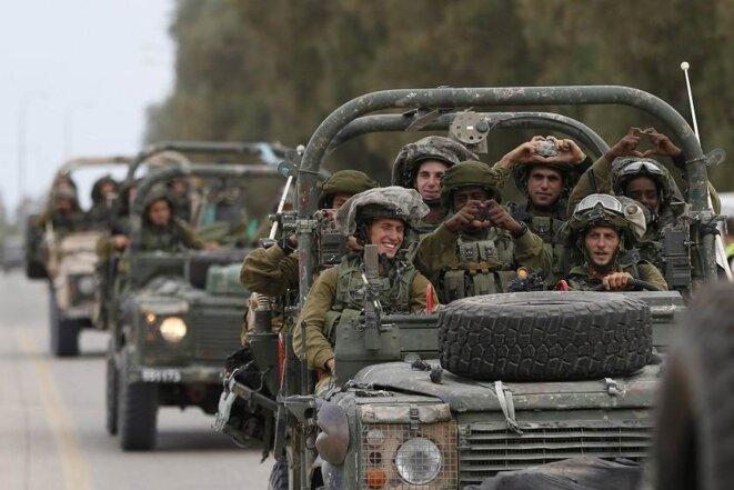 Soldats israéliens le 17 juillet 2014 © Reuters