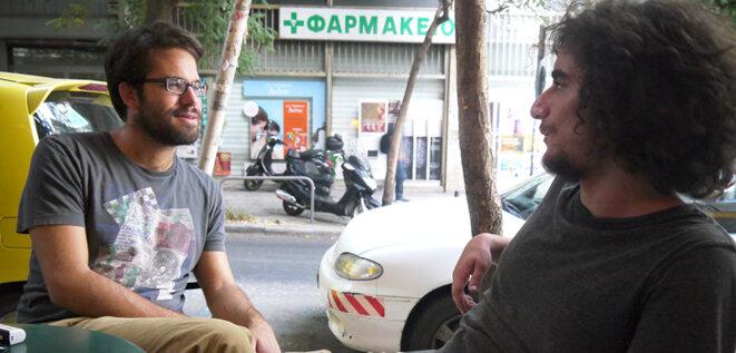 Yannos Giannopoulos et Kostas Karakitsas ont quitté les Jeunesses de Syriza à la fin de l'été © AP