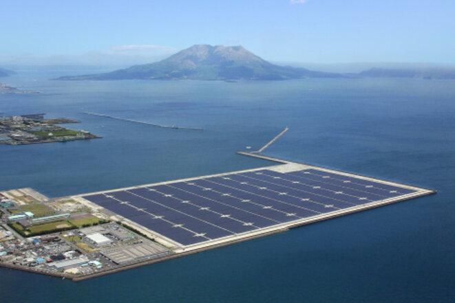 La méga-usine solaire sur l'île de Kyushu