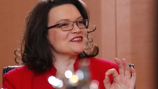 Andrea Nahles, ministre allemande de l'emploi.