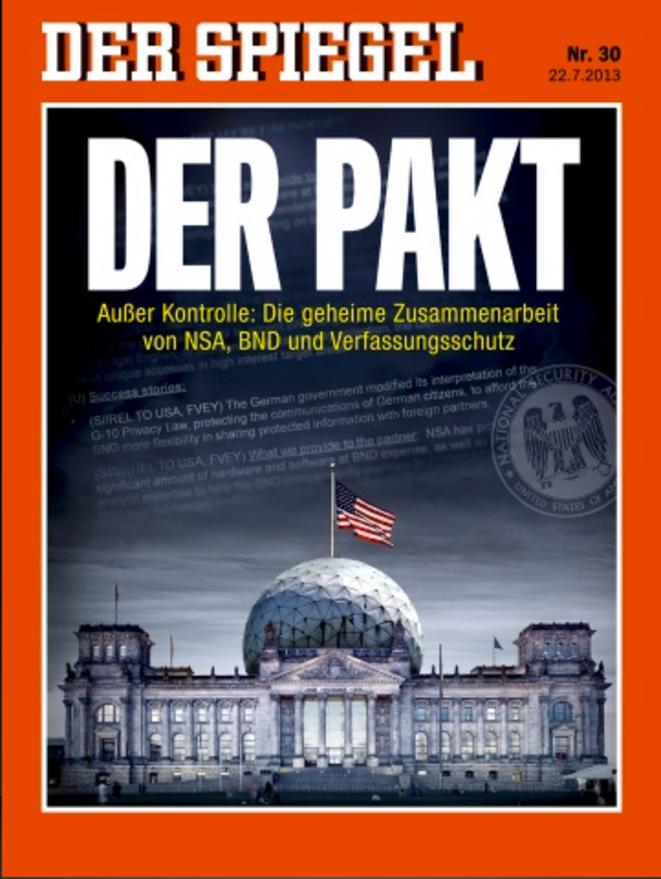La Une du Spiegel du 22 juillet