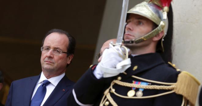 François Hollande le 12 novembre à l'Elysée © Reuters