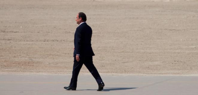 François Hollande sur les plages du débarquement © Reuters
