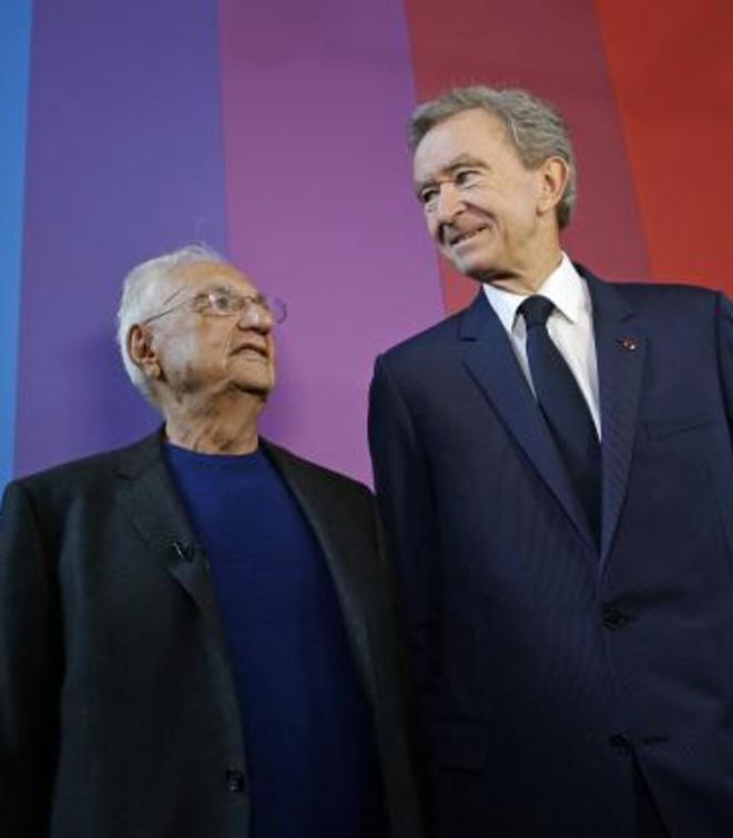 Frank Gehry et Bernard Arnault, le 17 octobre 2014