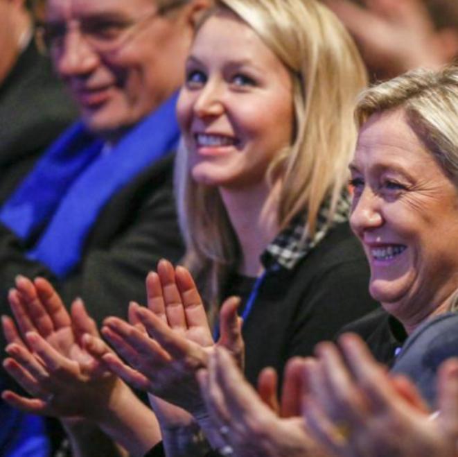 Marion Maréchal-Le Pen et Marine Le Pen le 29 novembre © Reuters