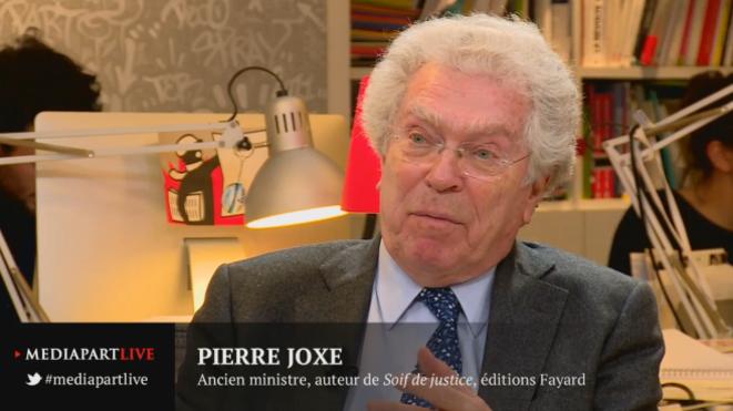 Pierre Joxe lors de notre émission