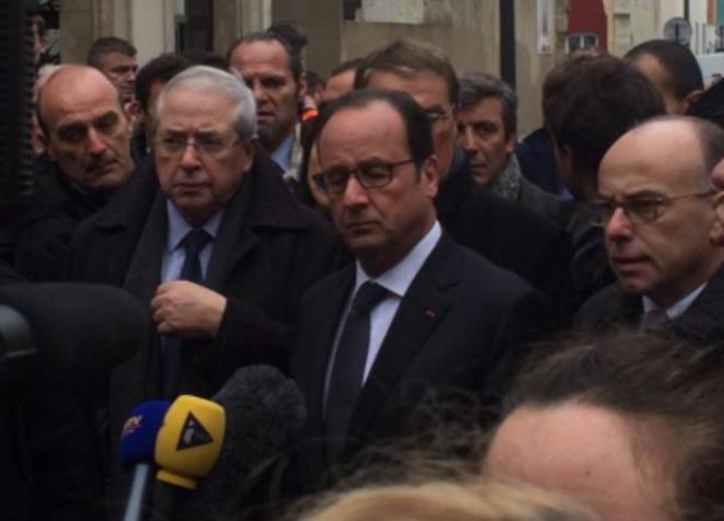 François Hollande sur place