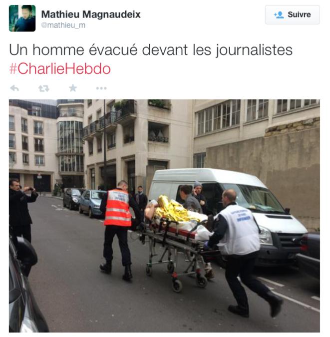 Tweet d'un de nos journalistes sur place